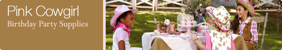 Pink Cowgirl Party Packs