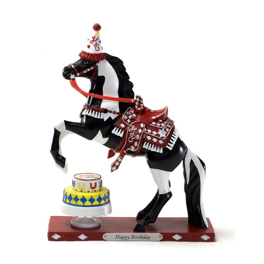 Trail of Painted Ponies Happy Birthday Figurine