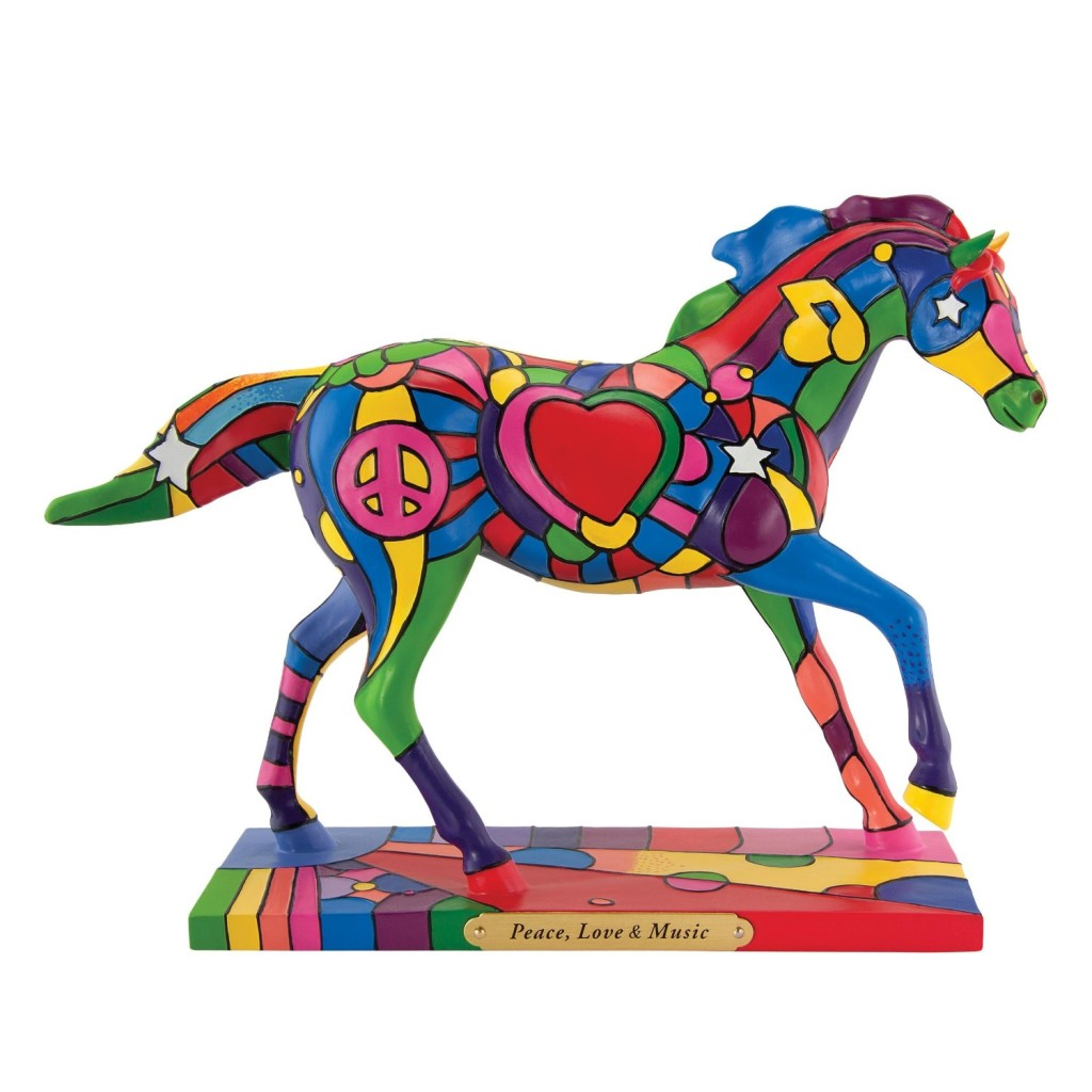 Trail of Painted Ponies Peace Love Music Figurine