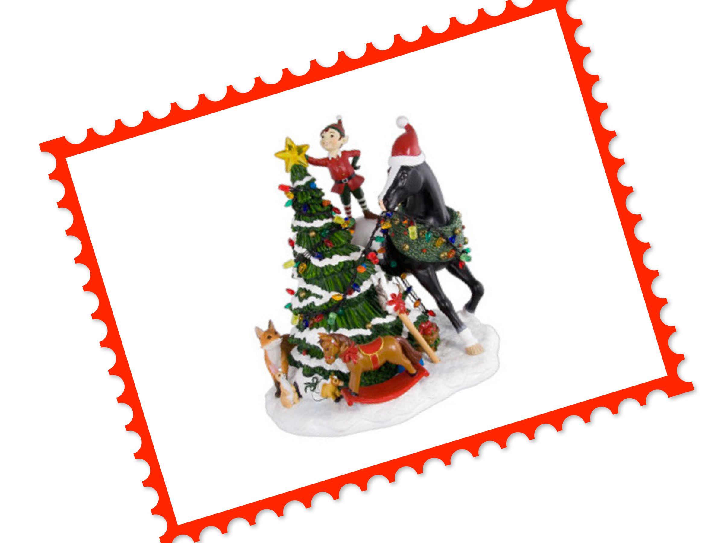 Trail of Painted Ponies Christmas Centerpiece