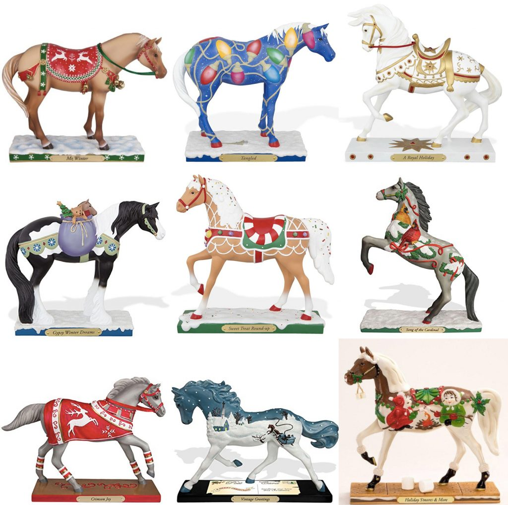 Trail of Painted Ponies Christmas Figurines
