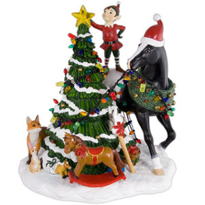 Trail of Painted Ponies Woodland Christmas Centerpiece