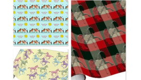 Horse Theme Holiday Gift Wrapping Paper