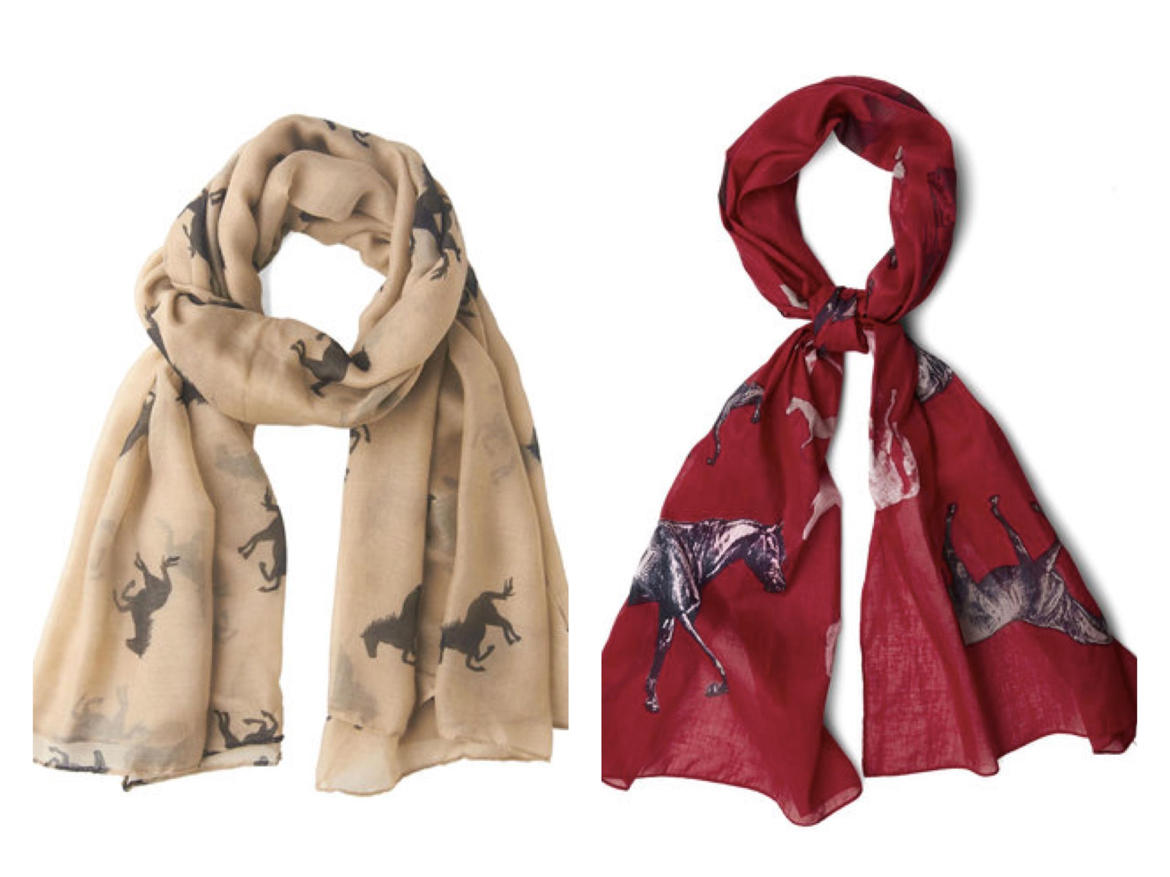 Horse theme scarves