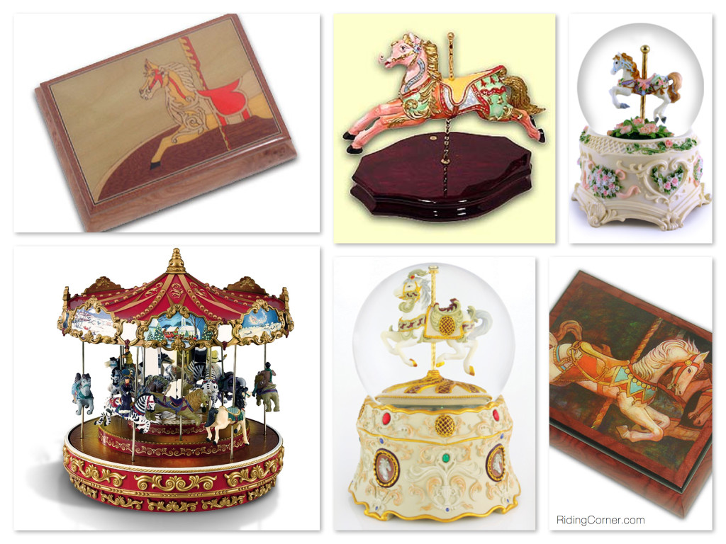 Beautiful Carousel Horse Music Boxes