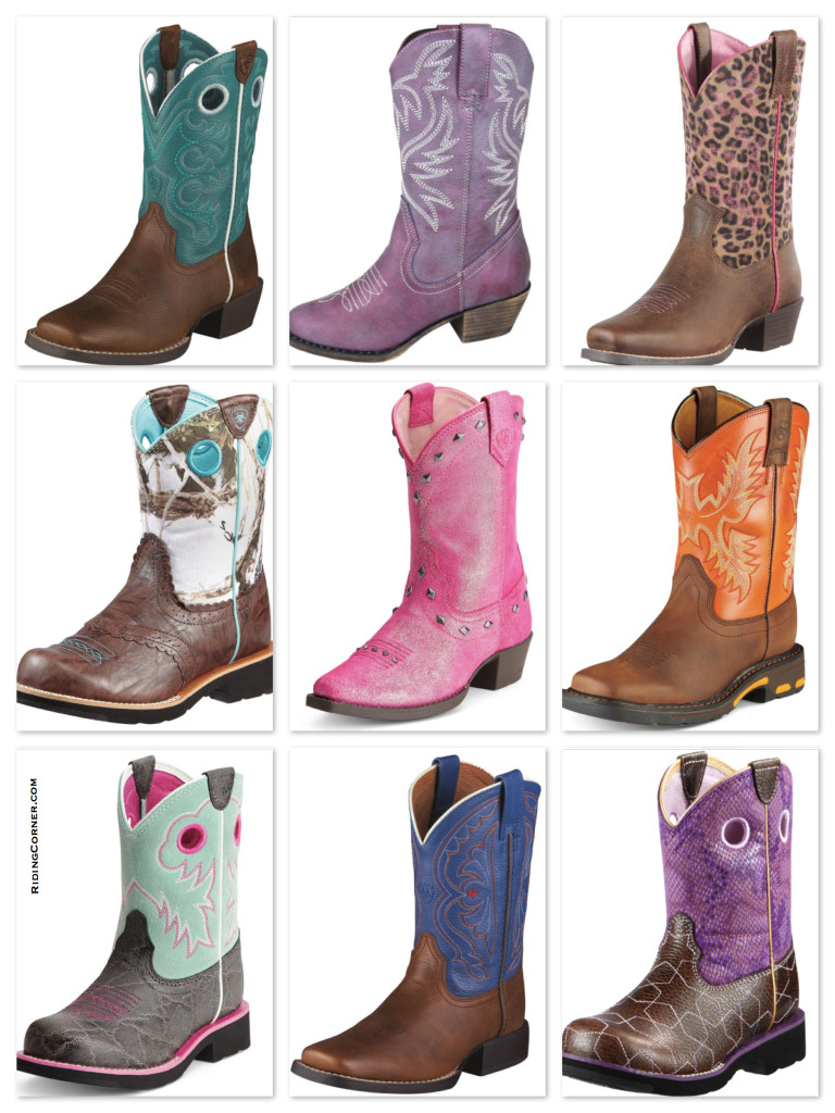 Girls Colorful Riding Boots - Western Style