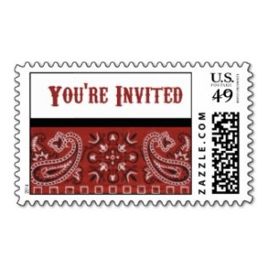 Bandana Invitation Postage Stamps