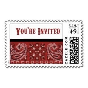 Bandana Invitation Postage Stamps