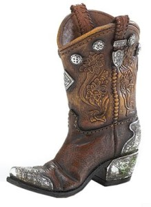 Boots And Spurs Western Cowboy Boot Vase