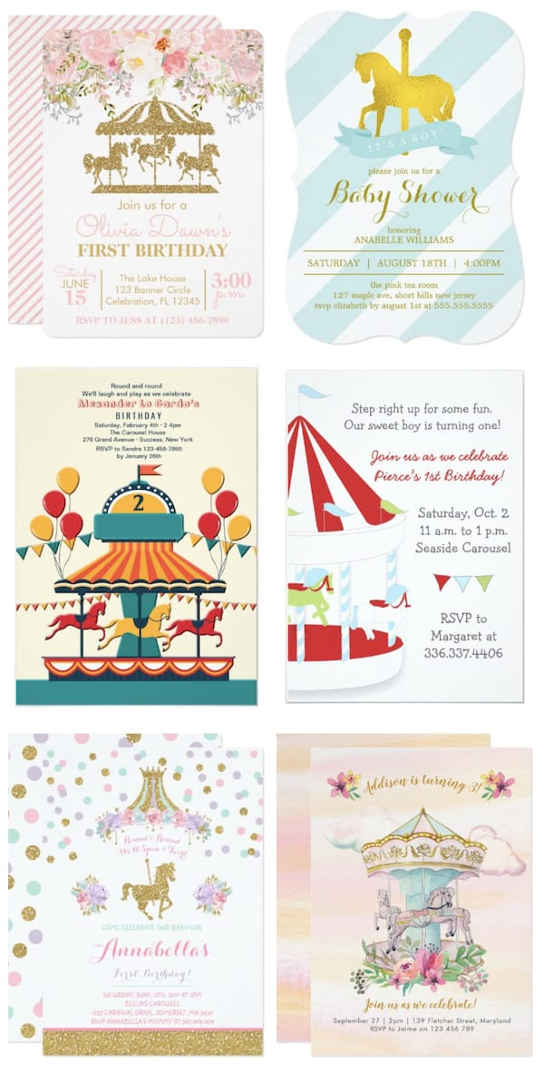 Carousel Horse Invitations