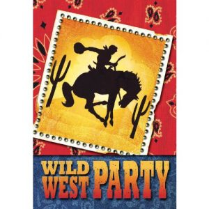 Cowboy Party Folded Fill-In Invitations