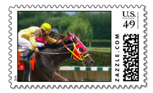 Horse Race Stamp