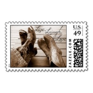 Live,Love,Laugh Western Postage