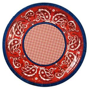 Meri Meri Howdy Cowboy 9-Inch Large Plates, 12-Pack