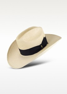 Panama Cowboy Hat with Black Band
