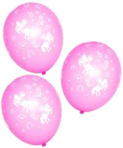 Pink Cowgirl Latex Balloons (25 pc)