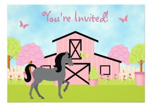 horse theme party invitations and stamps  birthday parties, Party invitations