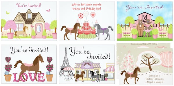 The Pretty Ponies Party Invitations