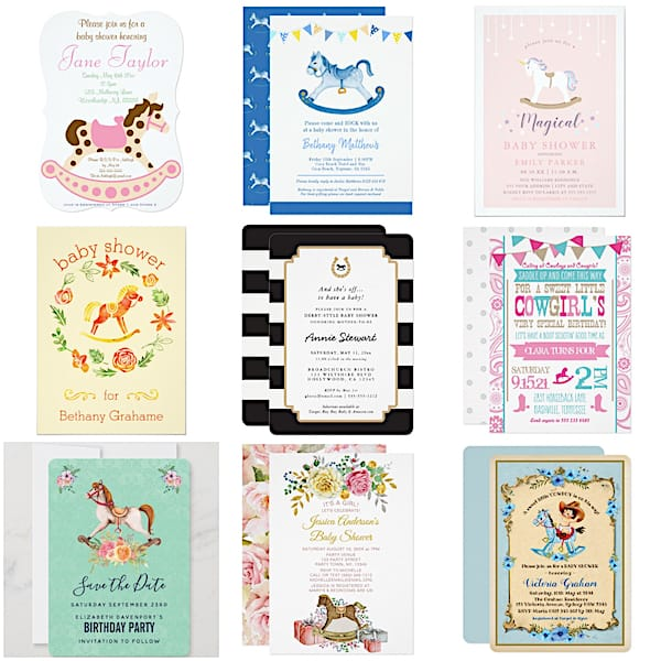Rocking Horse Invitations and Announcements