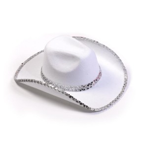 Sequin Cowboy Hat (White)