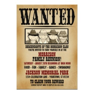 Wanted-Poster-Family-Reunion-Barbeque-Invitation