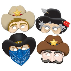 Western Masks Party Accessory (1 count) (4:Pkg)
