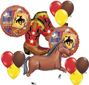 Wild West Cowboy Boots Horse Party Supplies Balloons Decor