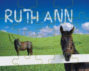 Personalized Horse Puzzle, Personalized Children's Horse Gifts
