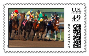 horse race postage stamp