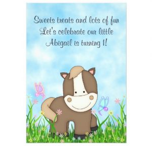 pony_and_butterflies_horse_1st_birthday_invitation