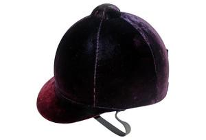 Purple Velvet Riding Helmet, Equestrian Chic Sale