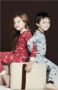 Bedhead Light Blue Year of The Horse Mom & Me Matching Pajamas, Mommy and Me Horse Pajamas