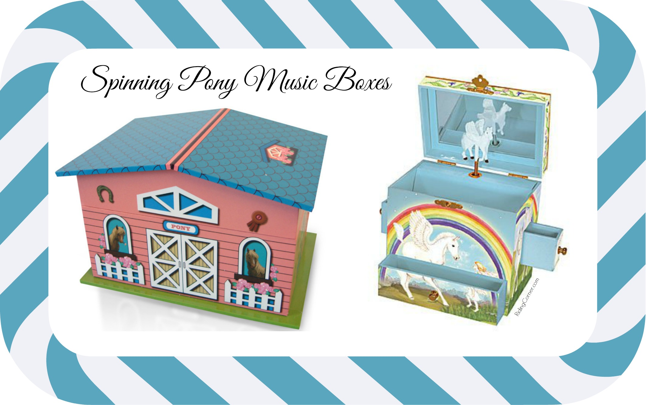 Spinning Pony Musical Jewelry Boxes