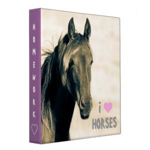 Horse Homework Binder