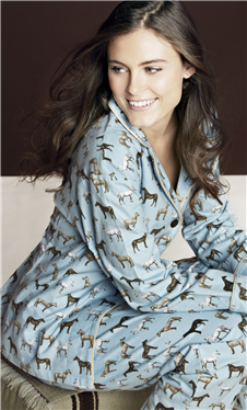 Blue Year of the Horse Pajamas