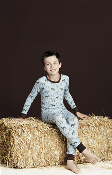 Kids Blue Year of the Horse Pajamas