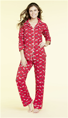 Red-Year-of-the-Horse-Mommy-and-Me-Matching-PJs-MOM, Year of the Horse Pajamas