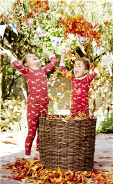 Red-Year-of-the-Horse-Mommy-and-Me-Matching-PJs-kids