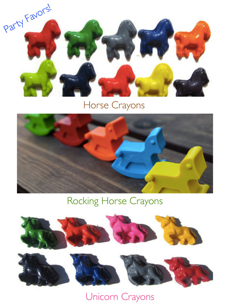 Horse Crayon Party Favors, Rocking Horse Crayons, Unicorn Crayons