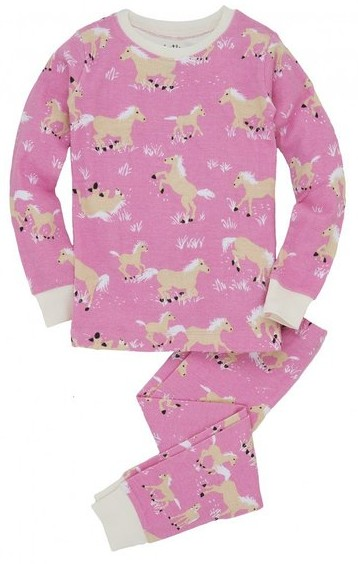 Hatley Kids PJ Set - Horse Play, girls horse pajamas