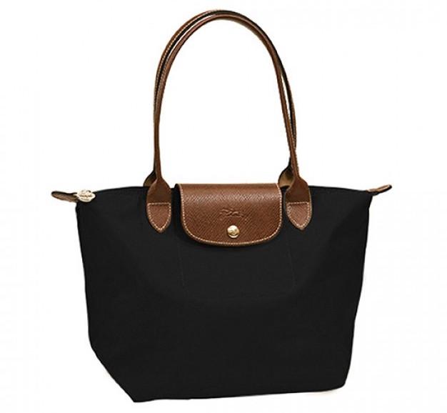 Longchamp Medium Shoulder Tote - Le Pliage - Black, LONGCHAMP Bags