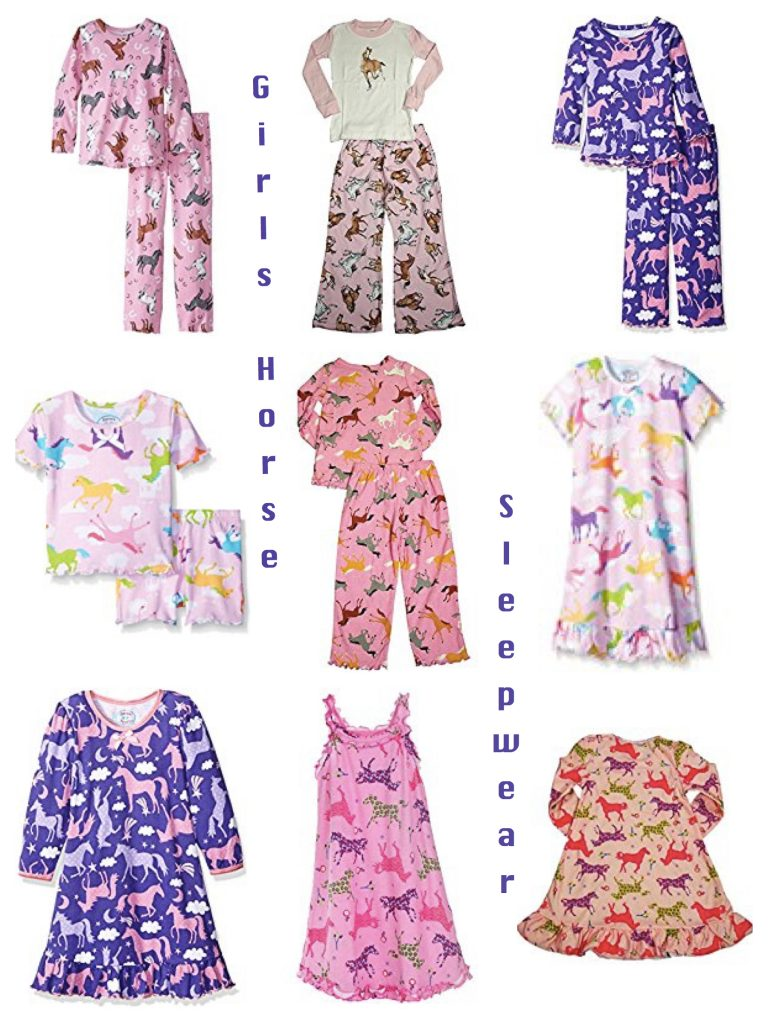 Girls Horse Sleepwear,girls horse pajamas