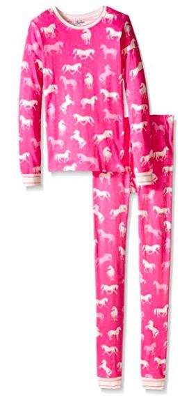 Hatley Girls' Classic Horses PJ Set