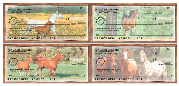 Horses Play Personal Checks, Checks for Horse Lovers