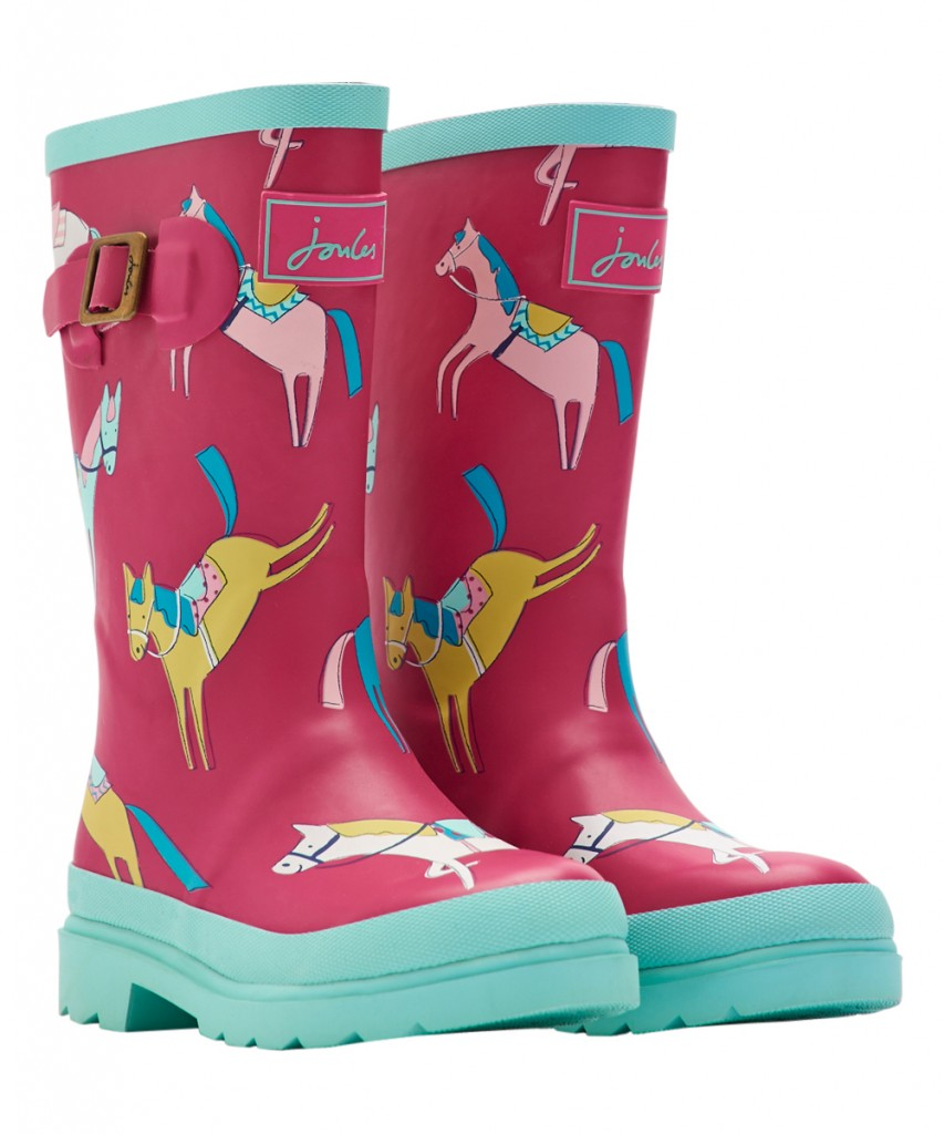 Kids Pink Horse Junior Welly Rain Boots,horse print welly rain boots
