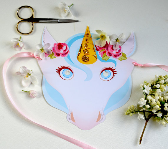 DIY Printable Unicorn Mask