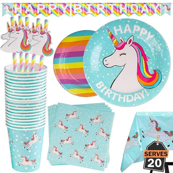Happy Birthday Unicorn Party Supplies
