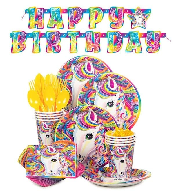 Lisa Frank Rainbow Majesty Unicorn Birthday Party Supplies