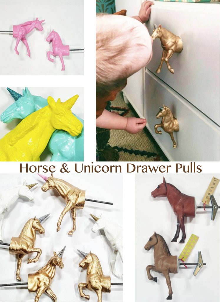 Horse & Unicorn Drawer Pulls