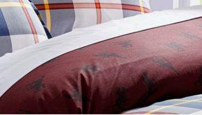 City Scene Weston Check Horse Design Comforter Duvet Set